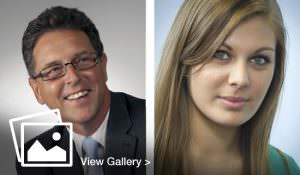 Business Portraits of male and female