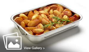 Product shot of Tray of roasted potatoes