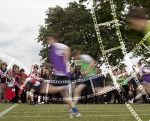 School students running race