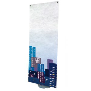 Outdoor banner stand with heavy duty sand/water fillable base