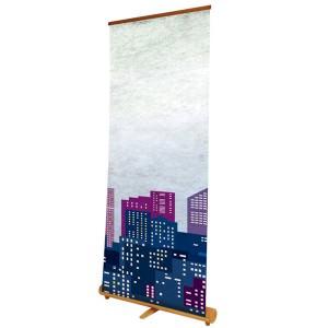 Logik roller banner with wooden base