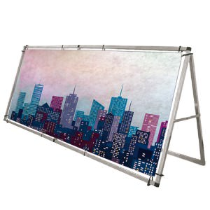 Outdoor Monsoon banner with single or double sided graphics