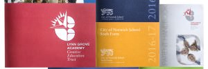 Selection of school prospectuses completed by GGS