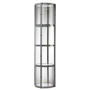 Spiral show tower with clear acrylic panels