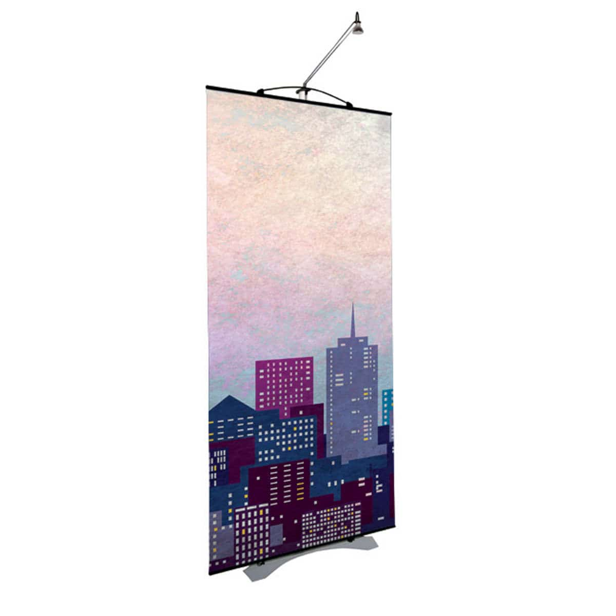 Single twist linkable banner