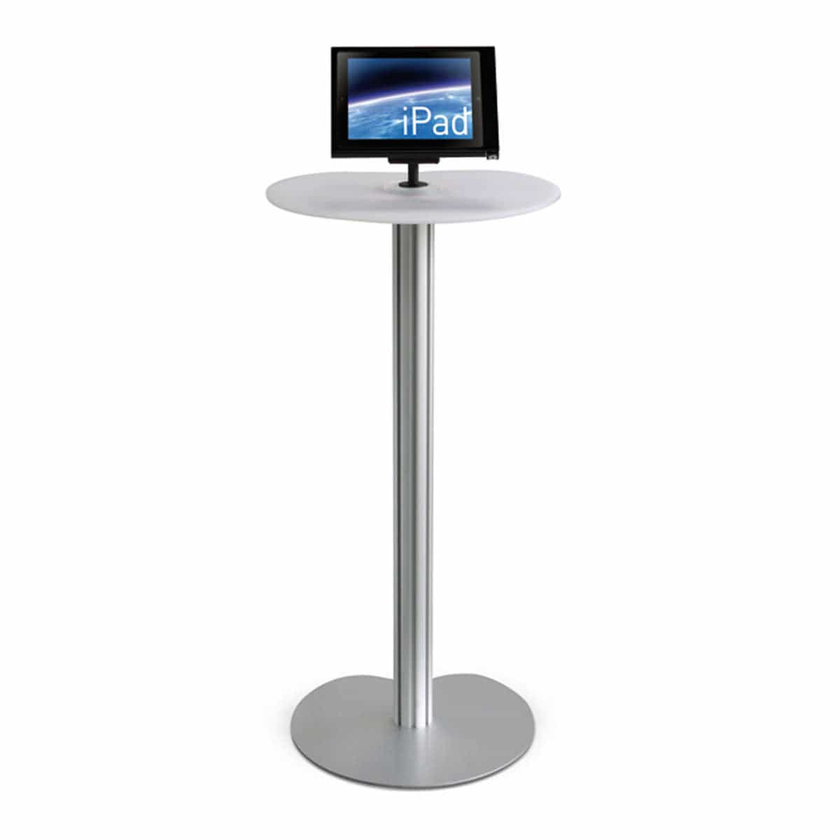 podium table with iPad holder