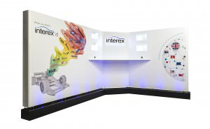 Vinyl cut graphics designed, printed and placed on a high gloss exhibition stand