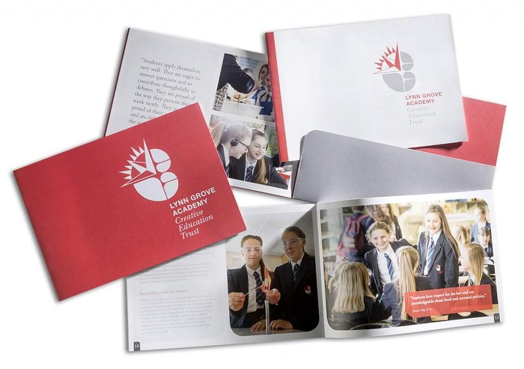 Design portfolio of school prospectus folder