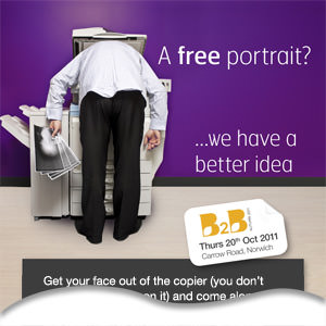 Portrait photography offer at event