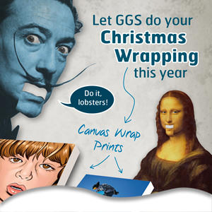 Let GGS do your Christmas Wrapping this year with our Canvas prints