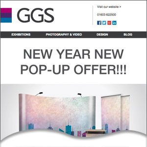 New year pop-up offer email newsletter