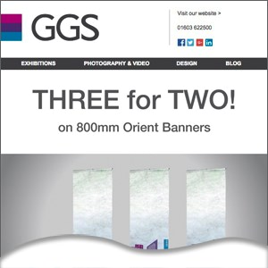 three for two offer on banners - portable display equip norwich