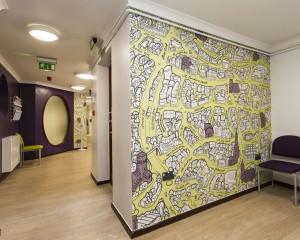 City of Norwich map Bespoke Wallpaper