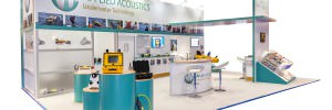 Bespoke stand design which showcases underwater technology