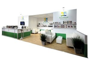 A large exhibition stand designed for Norfolk based wine producers