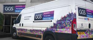 GGS van branded with personalised vinyl graphics