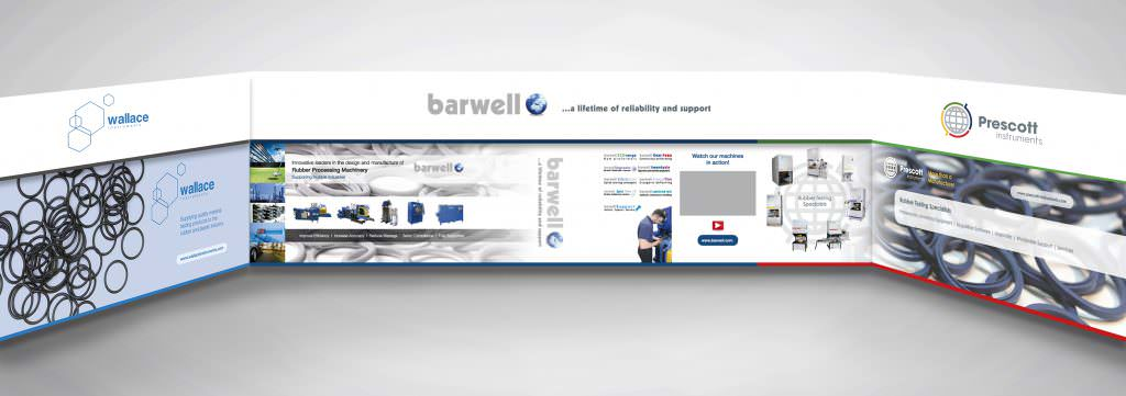 Graphic Design for Barwell exhibition stand