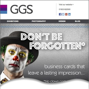 GGS Eshot - business card design