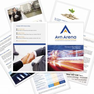 AVN Arena - Brochure design - graphic designers norwich