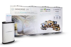 Immerse UK pic twist linked banner stands