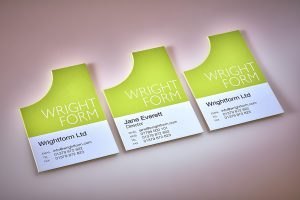 branding wright form - logo and card design Norwich