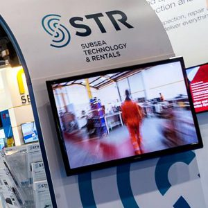 Subsea Technology stand - monitor displaying video