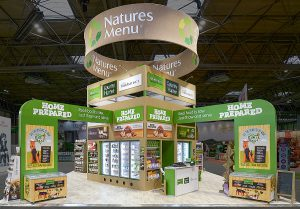 Exhibition stand design for Natures Menu