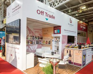 Norwich exhibition company GGS - Stand for Broadland Wines