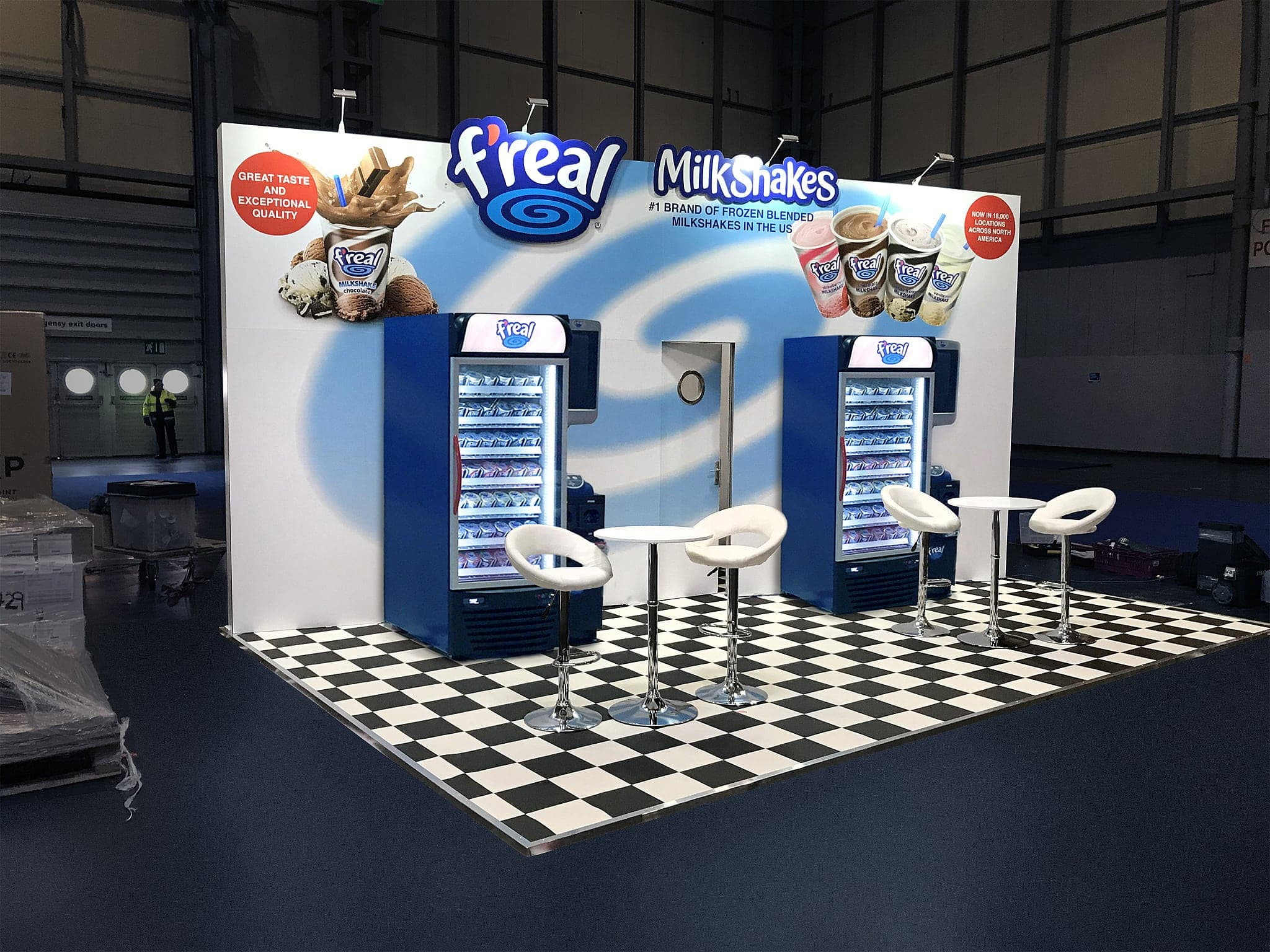 F'Real Milkshakes UK - Exhibition stand design